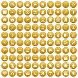 100 military journalist icons set gold. 100 military journalist icons set in gold circle isolated on white vectr illustration vector illustration