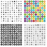 100 military journalist icons set vector variant. 100 military journalist icons set vector in 4 variant for any web design isolated on white Royalty Free Illustration