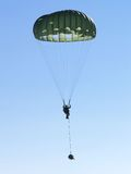 Military jump. Military parachute training Stock Photography