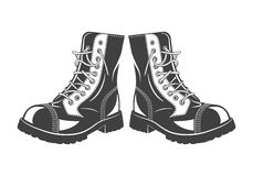 Military jump boots Royalty Free Stock Photos