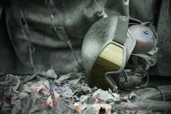 Military kevlar helmet Stock Images