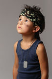 Military kid Stock Photo