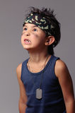 Military kid Stock Photography