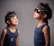 Military kid Stock Images