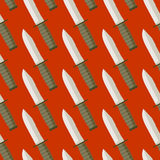 Military Knife seamless pattern. Background bladed weapons.  Royalty Free Stock Photography