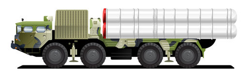Military launch vehicle Stock Images