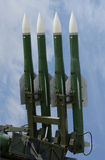 Military launched intermediate-range missiles Stock Photography
