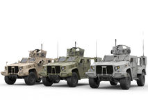 Military light armor tactical vehicles. All environments Royalty Free Stock Images