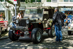 Military light utility vehicles Willys MB. BERLIN - JUNE 17, 2017: Military light utility vehicles Willys MB. Classic Days Berlin 2017 Stock Photos