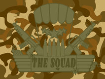Military Logo the Squad Stock Photography