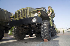 Military lorry Stock Photos