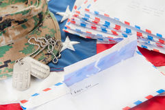 Military love letters. Love letters to deployed soldier Royalty Free Stock Photos