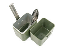Military lunch box Royalty Free Stock Image