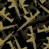 Military M16 rifle seamless pattern. 3d background Royalty Free Stock Photos