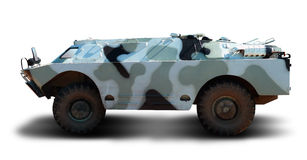 Military machine. BRDM on a white background Royalty Free Stock Photo