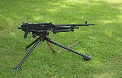 Military Machine Gun. Stock Photo