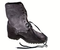 Military male boot Royalty Free Stock Photo