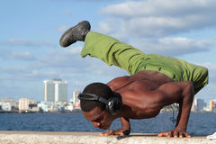 Military man doing sport Stock Photography