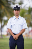 Military man at ease. Stock photo of a military man posing at ease in uniform royalty free stock image