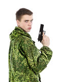 Military Man With Gun Royalty Free Stock Images