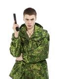 Military Man With Gun Royalty Free Stock Photos