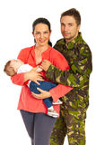 Military man and his family Royalty Free Stock Photography