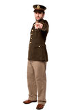 Military man pointing you out Royalty Free Stock Photos