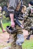 Military man in uniform Stock Photo