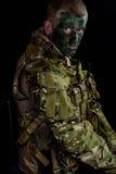 Military man whit armour Stock Photo