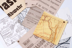 Military map. A military map, confidential documents Stock Photography