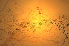Military map B Royalty Free Stock Photo