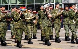 Military Marching In KDays Parade Edmonton Alberta Royalty Free Stock Photo