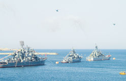 Military marine sea fleet of Russia Stock Image