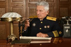 Military mature general Stock Photos