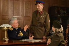 Military mature general Stock Image
