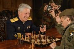 Military mature general Stock Photo