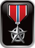 Military Medal On Silver Framed Icon Stock Images