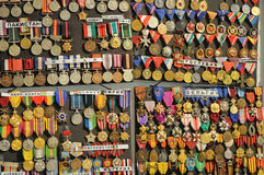 Military medals. A lot of military medals from different country Royalty Free Stock Photo
