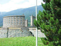 Military Memorial of Passo Resia Stock Image