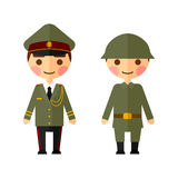 Military men flat set Stock Photography