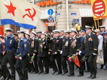 Military men at the military parade Stock Images