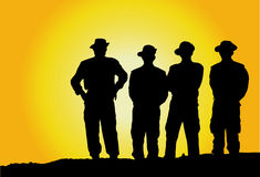 Military Mens !. Silhouette Illustration of four Military Mens Stock Image