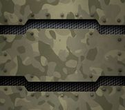Military metal background 3d illustration Stock Photos