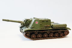Military miniature battle tank models. The weapon ever used in battle during world war II royalty free stock photography