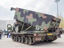 Military MLRS rocket launcher Royalty Free Stock Photos