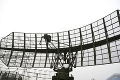 Military mobile radar station Royalty Free Stock Images