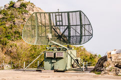 Military mobile radar station Stock Image