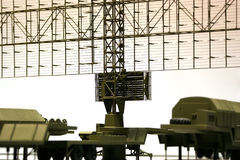 Military mobile radar station , Russia Stock Image