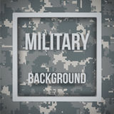 Military modern pixel camo background. Military modern digital pixel camouflage background with tags. Army symbol of defense. Vector Illustration Stock Images