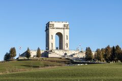 Military memorial in Asiago stock photos